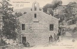 AULLENE Le Temple Protestant V.Porro Sartene Rare - Francia