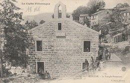AULLENE Le Temple Protestant V.Porro Sartene Rare - France