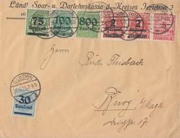 DR Brief Mif Minr.285,287,290,301,2x 312A,317 Genthin 25.10.23 - Deutschland