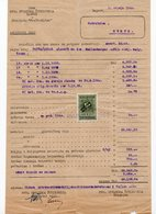 02.07.1940 YUGOSLAVIA, CROATIA, ZAGREB, FIRST CROATIAN SAVINGS BANK, 1 REVENUE STAMP - Invoices & Commercial Documents