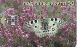 TARJETA DE FINLANDIA DE UNA MARIPOSA (BUTERFLY) - Mariposas