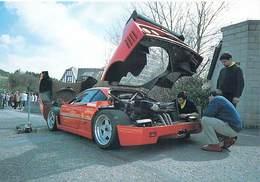 Auto Voiture FRANCORCHAMPS Mai 1999  Réglages D'une F 40 ( Ferrari F40 Voiture De Sport  ) *PRIX FIXE - Cartes Postales