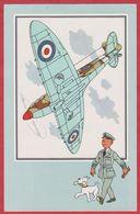 Chèque Tintin. Voir Et Savoir Par Hergé. Aviation. Avion. Seconde Guerre Mondiale. Serie 1. N°6. Spitfire. 1954. - Histoire