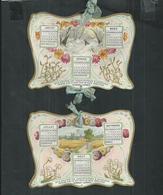 Calendrier De 1902 Sous Forme De 4 Découpis Reliés Par Un Ruban , Publicité Eau Minérale  Rubinat-Llorach - Petit Format : 1901-20