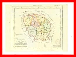 CPSM/gf (23) CREUSE. 1er Carte Des Départements, Origine 1792...K394 - Carte Geografiche