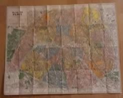 MAP PARIS METROPOLITAIN. - Europa
