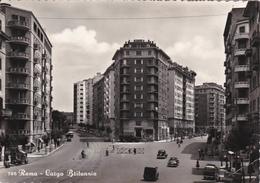 ROMA - LARGO BRITANNIA - AUTO - 1954? - Places & Squares