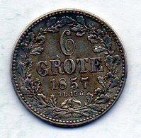 GERMAN STATES - BREMEN, 6 Grote, Silver, 1857, KM #240 - [ 1] …-1871 : Duitse Staten