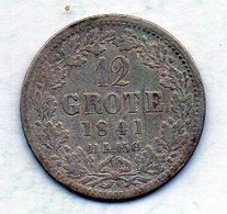 GERMAN STATES - BREMEN, 12 Grote, Silver, 1841, KM #232 - Monedas Pequeñas & Otras Subdivisiones