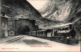 ! Alte Ansichtskarte Gotthard Tunnel, Expresszug, Eisenbahn, Edit. Photoglob Zürich Nr. 2438 - Treinen
