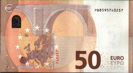 ! 50 Euro, P007H5, PB8595740257, Currency, Banknote, Billet Mario Draghi, EZB, Europäische Zentralbank - EURO
