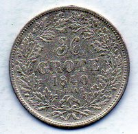GERMAN STATES - BREMEN, 36 Grote, Silver, 1840, KM #233 - Monedas Pequeñas & Otras Subdivisiones