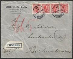Dänemark - R - Brief  06.06.1916 / Kopenhagen Nach Berlin ( Deutschland ) / Siehe Fotos - 1913-47 (Christian X)