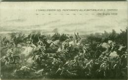 I CAVALLEGGIERI DEL MONFERRATO ALLA BATTAGLIA DI S. MARTINO - EDIZ. WILMANT / LODI - 1920s (3938) - Régiments