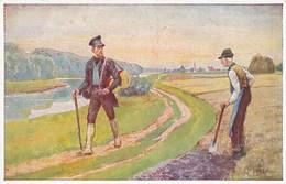 AK Volkslied - Wenn Ich Den Wandrer Frage - Wohlfahrtskarte Deutsche Bahnhofsmission - Ca. 1910 (45652) - Muziek En Musicus