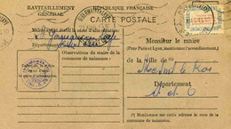 Carte De Ravitaillement, Mairie De SAINT GERMAIN En LAYE (Seine Et Oise)  - Cachet à Date Du 21 Novembre 1946 - Marcophilie (Lettres)
