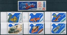 0542 Cuba Russia USSR Space Voskhod Walk Satellite Moon Lunkhod 1 Set+1 Imperf Stamp MNH - Spazio