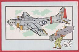 Chèque Tintin. Voir Et Savoir Par Hergé. Aviation. Avion. Seconde Guerre Mondiale. Serie 2. N°52. Boing B-17. 1955. - Histoire