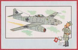 Chèque Tintin. Voir Et Savoir Par Hergé. Aviation. Avion. Seconde Guerre Mondiale. Serie 2. N°41. Messerschmitt Me. 1955 - Histoire