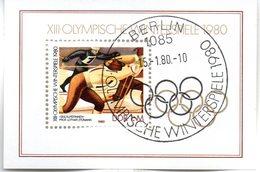 "(DDR-Bl) DDR Mi. Block 57 ""Olympische Winterspiele, Lake Placid""  ESSt 15.1.1980 BERLIN - [6] Democratic Republic"