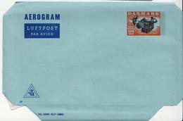 Postal History Cover: Denmark Mint Aerogramme Nr 24 60 öre - Entiers Postaux