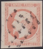 France   .     Yvert    .   16       .      O      .       Oblitéré   .   /   .   Cancelled - 1853-1860 Napoleon III