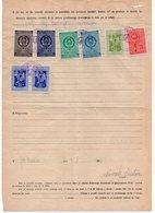 1956 YUGOSLAVIA, SLOVENIA, 2 OLD POSTOJNA REVENUE STAMP AND 6 OTHER REVENUE STAMPS - 1945-1992 Socialist Federal Republic Of Yugoslavia