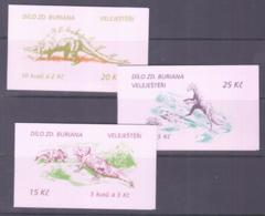 PREHISTORIC LIFE - CZECH REPUBLIC - 1994- DINOSAURS SET OF 3 BOOKLETS COMPLETE  MINT NEVER HINGED - Timbres