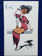 "Cpa--""Femme Avec Jumelles""-Charles Naillod (my Ref CN2)-1911 - Naillod"