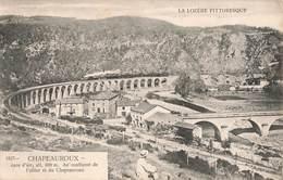 48 Chapeauroux Viaduc Train Locomotive à Vapeur Chemin De Fer Cachet 1905 - Otros Municipios