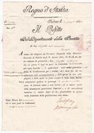 Regno D'Italia 1813 Il Prefetto Del Dipartimento Della Brenta Padova Royaume D'Italie Napoléon Premier Empire - ...-1850 Voorfilatelie
