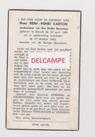 DOODSPRENTJE CARTON REMI WEDUWNAAR DESCAMPS WERVIK 1889 - 1962  Bewerkt Tegen Kopieren - Devotion Images