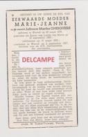 DOODSPRENTJE GHESQUIERE MARTHA - E.M. MARIE-JEANNE WERVIK 1878 - 1957   Bewerkt Tegen Kopieren - Devotion Images