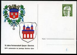 Bund PP46 B2/003 STÄDTEPARTNERSCHAFT CHARTRES SPEYER 1974  NGK 4,00 € - Cartes Postales Privées - Neuves