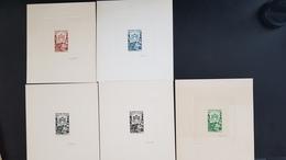 Rare ! Série De 5 épreuves D'artistes Des Floralies 1959 Signées Gandon Timbre YT1189 En Divers Coloris - Artist Proofs