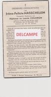 DOODSPRENTJE MASSCHELEIN IRèNE DOCHTER VAN ALPHONSE EN COUDRON WERVIK 1935 - 1945  Bewerkt Tegen Kopieren - Devotion Images