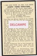 DOODSPRENTJE DEMUYSERE JOSEPH ECHTGENOOT DESCAMPS WERVIK KORTRIJK 1896 - 1961  Bewerkt Tegen Kopieren - Devotion Images