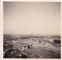PHOTO ORIGINALE 39 / 45 WW2 WEHRMACHT FRANCE CALAIS VUE SUR LE CANAL ET LA VILLE - Guerre, Militaire