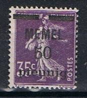 Memel Y/T 22 (*) - Unused Stamps