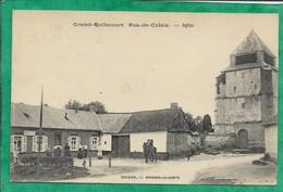 Grand-Rullecourt (62) église 2scans (Delelay-Doré ?) Carte Animée 13-09-1915 Soldat Barbotin 71e Régiment D'Infanterie - France