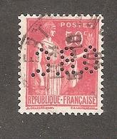 Perforé/perfin/lochung France No 283 O.B.C. O. Beraudy & Cie - France
