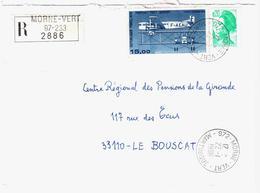 972 MORNE VERT Martinique Lettre Recommandée 20 C Liberté 15 Farman F60 Yv 2181 PA 57 Ob 22 1 1986 - Briefe U. Dokumente