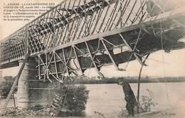 49 Angers Catastrophe Des Ponts De Cé 4 Aout 1907 Train Tombe Dans La Loire Effondrement Pont écroulé Locomotive - Trains