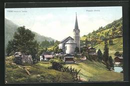AK Fiesch, Blick Zur Kirche - VS Valais