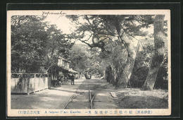 AK Karatsu, A Famous Place, Strassenpartie Mit Strassenbahn - Japan
