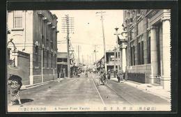 AK Karatsu, A Famous Place, Strassenpartie Mit Passanten - Japan