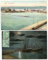 LOT 2 CPA Egypte * SUEZ Vue Du Dock & Canal De Suez Drague - Excellent état - Suez