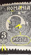 Errors Romania 1920 King Ferdinand 3b With Circle On The Collar, Point Below The Letter A - Variedades Y Curiosidades