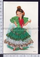 V9635 ILLUSTRAZIONE MAROSA GARCIA DANZA TANGO SPAIN COSTUMI TESSUTO IN RILIEVO - Illustratori & Fotografie
