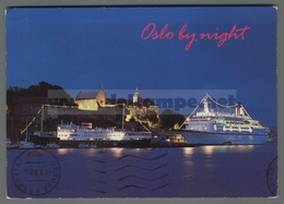 V9657 NORWAY OSLO BY NIGHT NAVI SHIP VG STAMP EUROPA CEPT - Norwegen